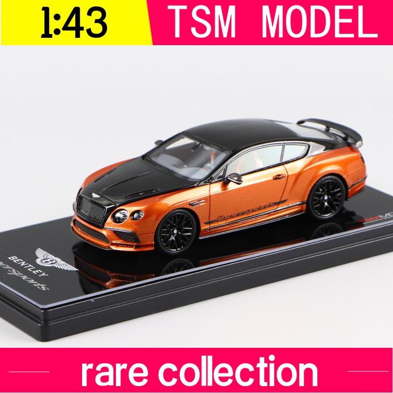 1:43 SCALE  Bentley  supersport  onlyx  over orange fiame 2017 TSM430280  TSM MODEL