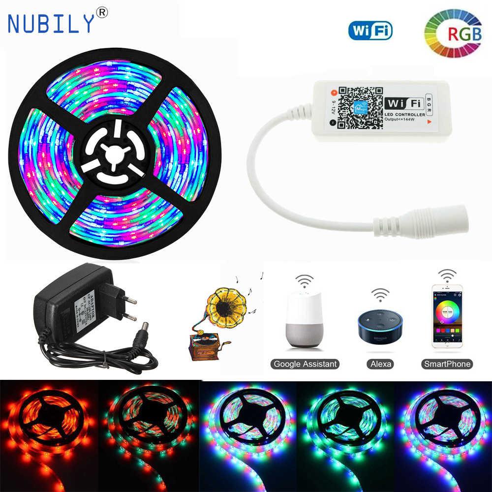 WIFI 2835 RGB LED Strip Lights Work With Alexa Google Home Music 10M//32.8ft
