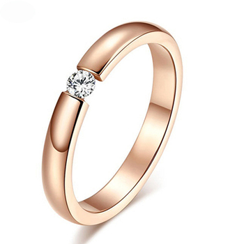 Rose Gold Color Assembly Anel Feminino Bijoux Aneis 0.5 Ct Engagement Ring Zirconia Jewelry Rings 7