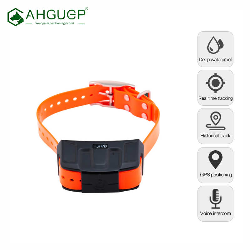 Hand hold hound gps tracker dogs real time tracking IP68 deep waterproof security fence anti collision dog locator free app