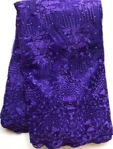 Image 5 - Afrika boncuklu dantel kumaş işlemeli nijeryalı danteller kumaş 2020 yüksek kaliteli şeftali fransız tül dantel kumaş kadınlar için HLL4807