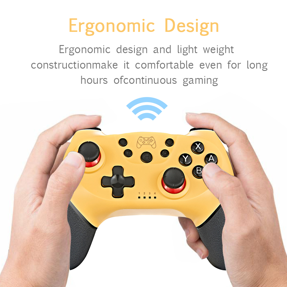 2020 Wireless Bluetooth Gamepad Game Joystick Controller with 6-Axis Handle Compatible with Switch Pro Gamepad Switch Console