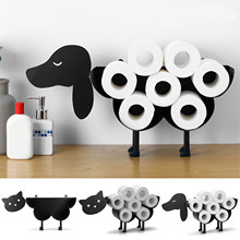 Toilet Paper Holder Wall Mounted Roll Paper Tissue Shelf Holds 7 Roll Toilet Paper Holder Basket Free Standing Towel Holder