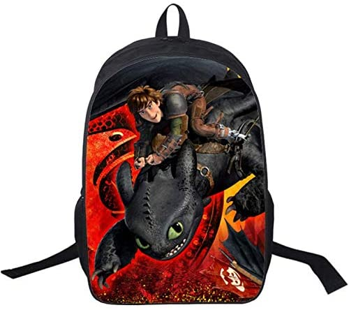 Kids How to Train Your Dragon 3 Backpack School Bags Travel Laptop Rucksack Gift