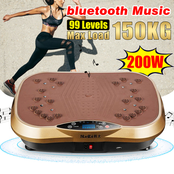 Exercise Fitness Vibration Machine Trainer Plate Platform Body Shaper Platform Machines Weight Loss Shaking Workout 150KG/220W