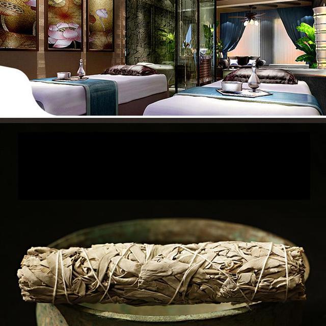 White Sage Pure Leaf Smoky Purification Sage Smoking Indoor Fragrance To Purify The Mind  Room Buddhist Temple Cedar Sticks 6