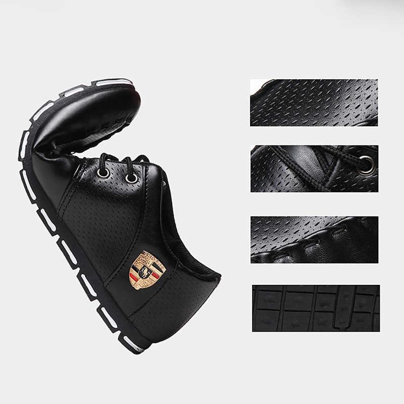 Nuevos mocasines de moda para hombre, zapatos casuales de cuero para hombre, mocasines para adultos de alta calidad, zapatos de conducción para hombre, calzado Unisex 2019