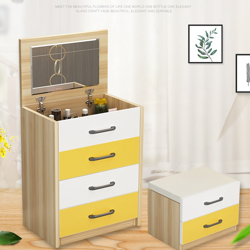 Ins Multi Function Makeup Table Nordic Dressing Table Storage With