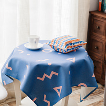 Geometric Pattern Cotton Linen Tablecloth Garden Fabric Round Table Square Table Coffee Table Cloth  ok цена 2017