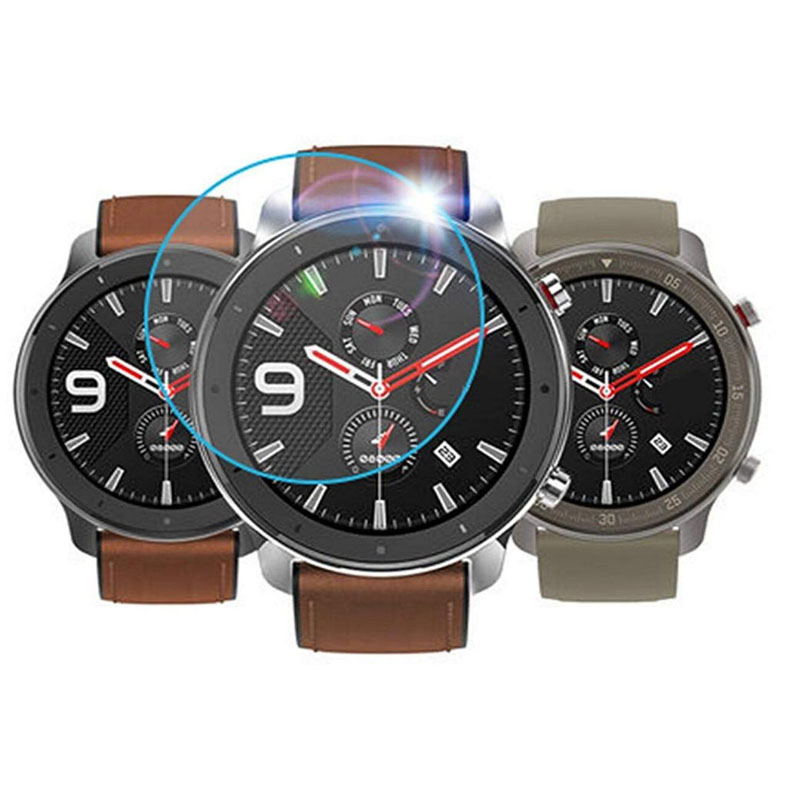 Tempered Glass Clear Protective <font><b>Film</b></font> Protection For <font><b>AMAZFIT</b></font> GTR Sport Watch 42mm 47mm Smartwatch Display Screen Protector Cover image