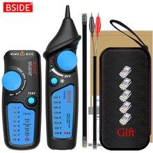 Сетевой кабельный трекер детектор BSIDE FWT81 RJ11/45 Lan Ethernet тестер для телефонных проводов искатель телекоммуникационный инструмент электрифицированная работа 48 В