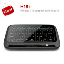 H18+ 2.4GHz Backlight Mini Wireless Keyboard Remote Touchpad Keyboard Combo For Smart TV For Android TV Box PC(China)