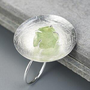 Image 3 - Lotus Vui Thật Nữ Bạc 925 Đá Quý Tự Nhiên Ban Đầu Handmade Mỹ Trang Sức Có Thể Điều Chỉnh Cá Tính Vòng Nhẫn cho Nữ