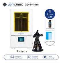 ANYCUBIC 3d طابعة الفوتون S SLA 3d طابعة 2K شاشة 405nm طابعة UV ضوء LCD العيون اخفاء 3D مجموعة الطابعة DIY impresora 3d
