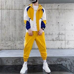 Мужской спортивный костюм из полиэстера, повседневный дизайнерский комплект из двух предметов на весну и осень, зимние спортивные костюмы ...