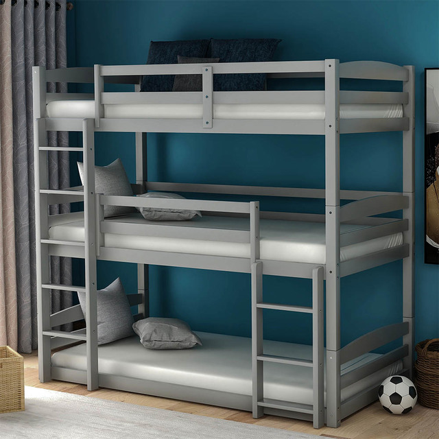 Triple Bed with Ladder  Bed Frame 3