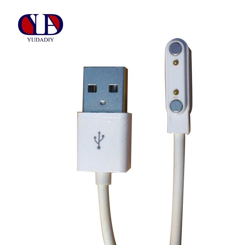 חכם שעון או חכם Wristbands טעינת קו כבל מגנט יניקה 2 פינים 7.62mm USB ממשק חירום גיבוי מטענים