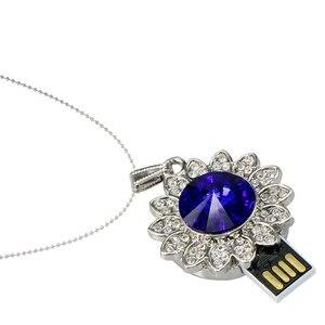 Image 5 - Neue Metall Kristall Stick 4GB 8GB 16GB 32GB 64GB 128GB Ocean Star Anhänger USB Stick USB 2,0 Speicher Stick