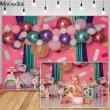 Mocsicka пончики девушка 1st день рождения фотографии фоны красочные