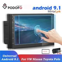 Podofo Android 2Din Car Radio Multimedia Player Universal 2din Auto Stereo Receiver GPS for Volkswagen Nissan Hyundai Kia Toyota
