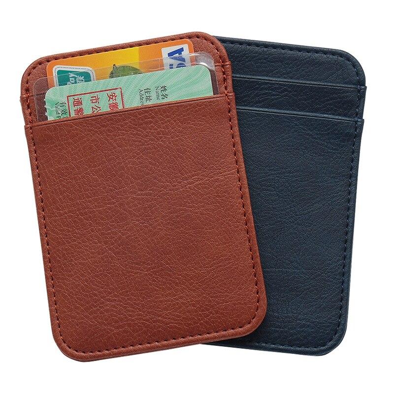 Классический вертикальный однотонный мини-держатель для кредитных карт Zoukane, визитница с несколькими картами для водительского удостовере...