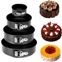 ノンスティックケーキパン金属ベーキングパンなケーキ金型ラウンド形状ベーキングモールドベーキング金型耐熱皿キッチンツール -