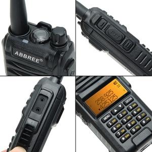 Image 4 - Abbree AR F3 трехдиапазонная рация 8 Вт, Двухдиапазонная и 220 260 МГц, высокомощная рация дальнего действия, передатчик cb, двухсторонняя рация