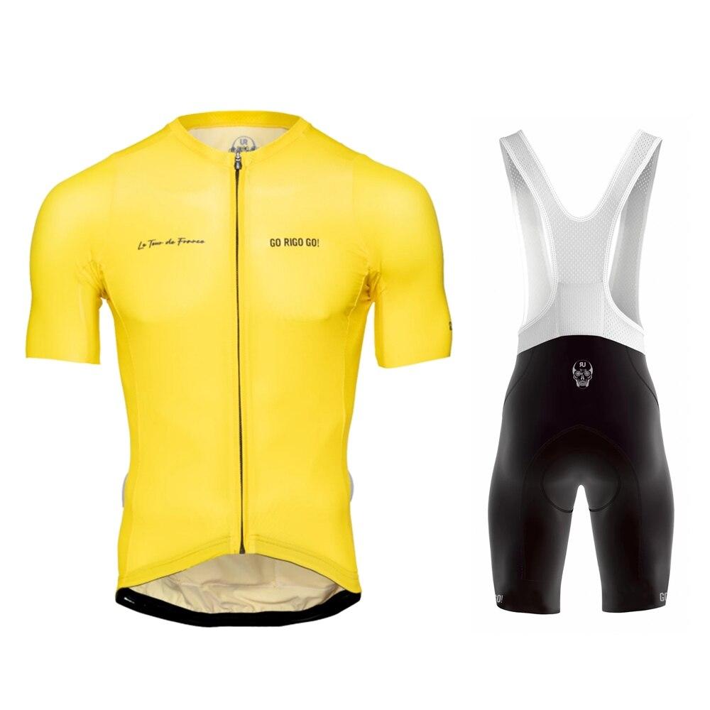 Go rigo go jazda na rowerze jersey letni mężczyzna odzież rowerowa z krótkim rękawem ropa maillot hombre conjunto 2020 odzież rowerowa mtb bib krótki zestaw