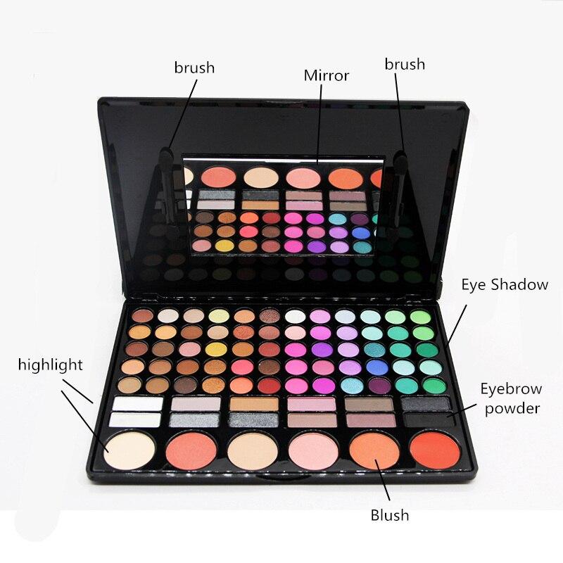 Image 3 - SANIYE  78 Colors Eyeshadow Palette with Mirror Beauty glazed Multicolor Eye Shadow Blusher palette Big Makeup  78P04Eye Shadow   -
