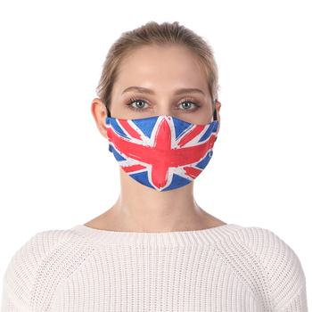 UK Flag Printing Reusable Protective PM2.5 Filter Mouth Mask Anti Dust Mask Windproof Adjustable Face Masks Face Masks