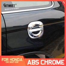 Dla Honda CRV CR-V 2007-2011 ABS Chrome zewnętrzna pokrywa zbiornika oleju opałowego tapicerka ochronna naklejka samochodowa akcesoria samochodowe 1 sztuk