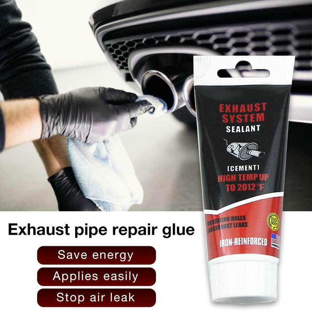 75g Professional Maintain Tool Exhaust Pipe Adhesive Muffler Accessories Sealant Paste Car Repair High Temperature Easy Apply