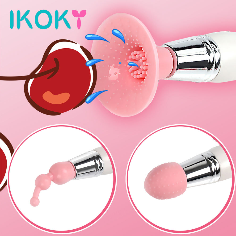 IKOKY 3 In 1 Clit Vibrator Clitoris Stimulator Nipple Massager Sex Toys For Women Female Strong Vibration Adult Products