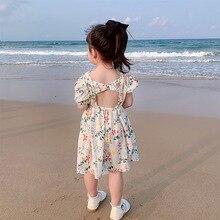 Girls Floral Dress 2020 Summer Fashion Cute Princess Sweet Fairy Children Baby Backless
