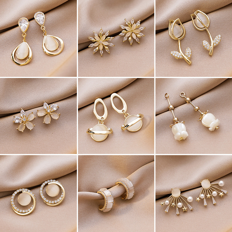 Micro Paved Statement Waterdrop Pendientes Jewelry