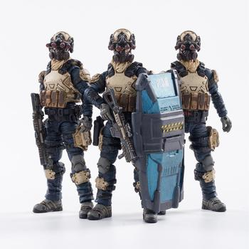 1/18 JOYTOY Action Figures (3PCS/Set) Starhawk 8th Army Indigo Fleet Military Soldier Figure Model Toys Collection Toy 1 6 scale movable 3 style 12 swat black uniform military army combat game toys soldier set action figure model toys
