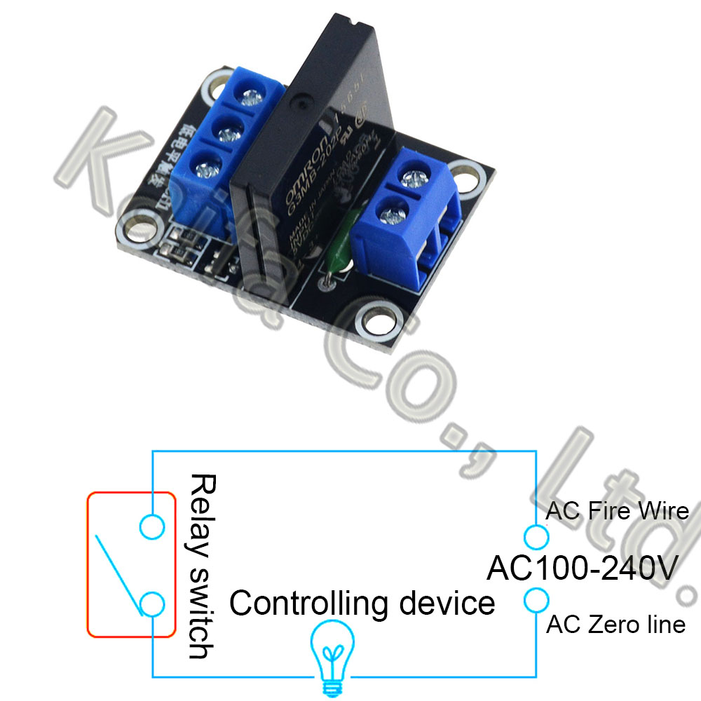 4 way Solid State Relay Module Board DC 5v Low Level Trigger SSR for Arduino PCE