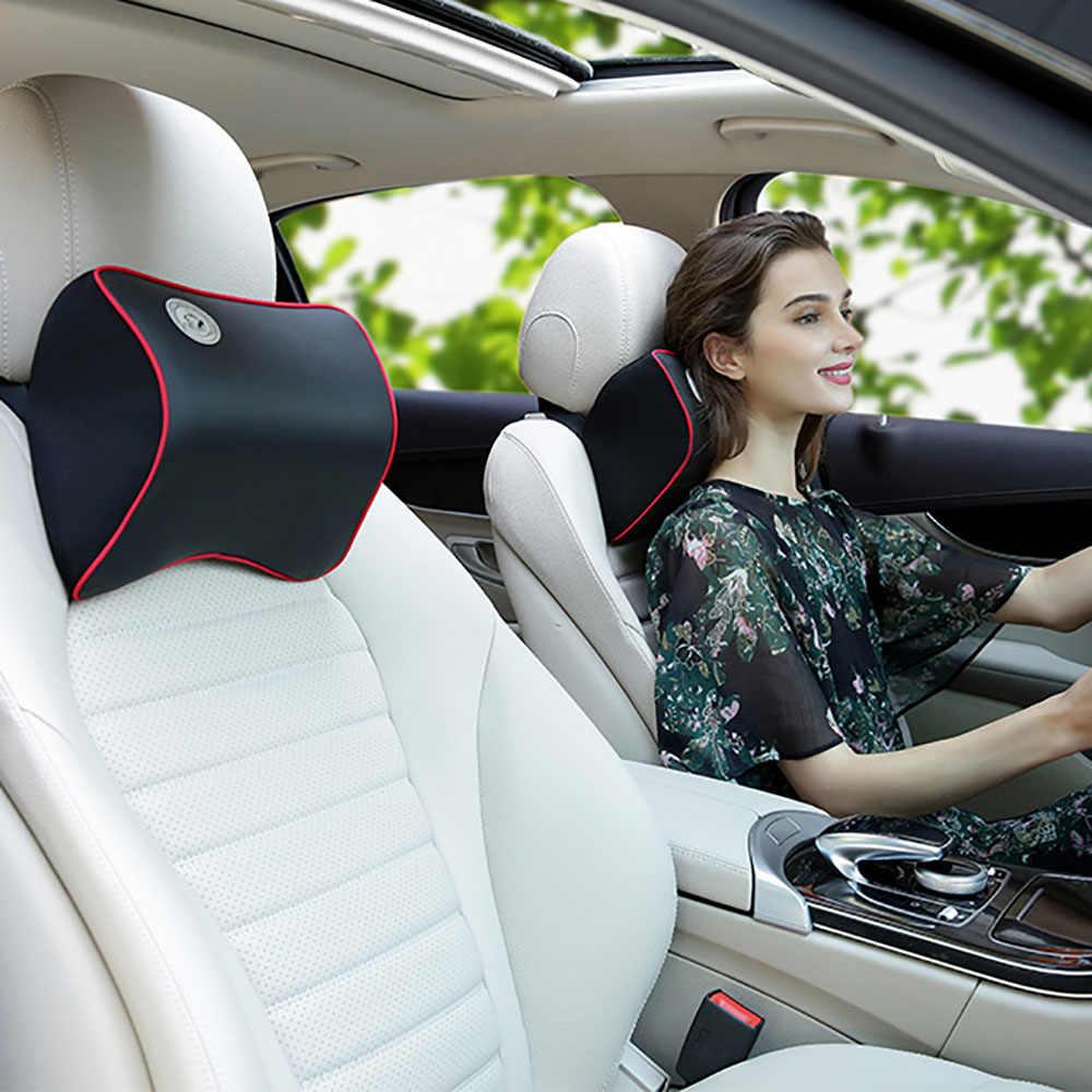 Poduszka pod szyję do samochodu 3D poduszka z pianki memory zmywalny zagłówek skórzany fotelik samochodowy poduszka pod plecy na krzesło biurowe uniwersalne
