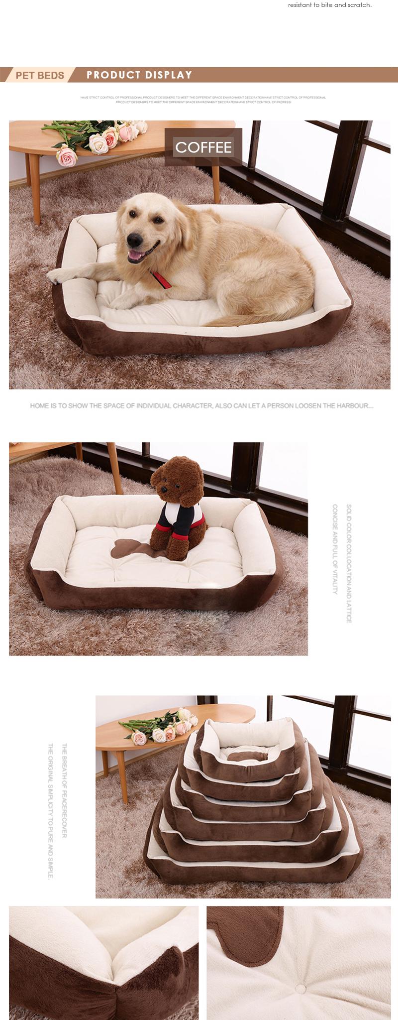 Cama para mascotas con figura de hueso 1