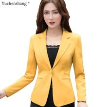 2019 New Plus Size 4XL Female Coats Blazer Spring Summer Long Sleeve One Button