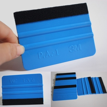 1 Pc Car Styling Film Wrap Foil Carbon Felt Fiber Edge Squeegee Vinyl Remover Scraper Window Sticker Tint Tools Скребок ракеля image