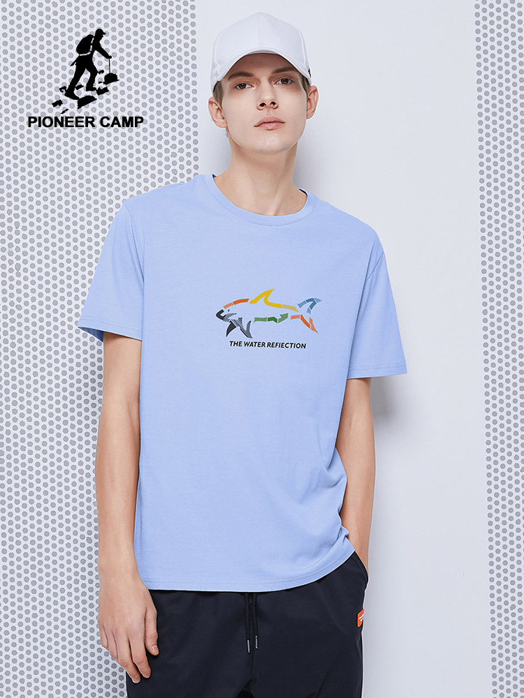 Pioneer Camp 2020 Summer Men's T-shirts Blue Yellow White 100% Cotton Hip Hop Fashion Printed New Tops Shirts Male ADT0208061