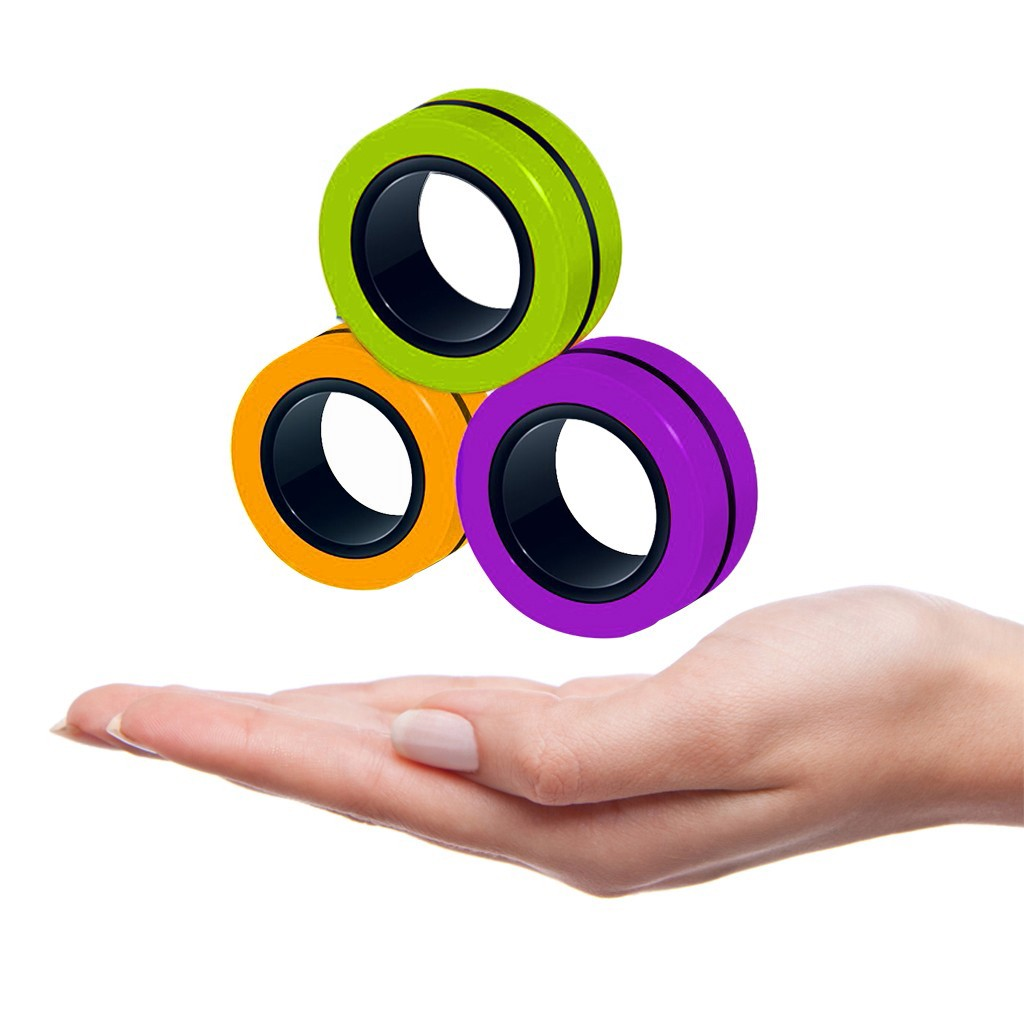 Ring-Props-Tool Fingertip-Toys Magnetic-Rings Decompression Anti-Stress ADHD Anxiety Relief img2