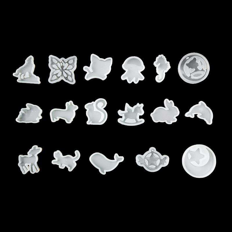 QIAOQIAO DIY Clear Silicone Mold DIY Animal Pendant Necklace Jewelry Mould Hair Accessories Resin Craft Tool