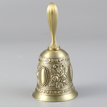 Bar accessory restaurant bar bell transfer dish bell table bell  ornaments safe home hand-cranked craft jewelry restaurant table serving call bell bar ringer for hotel kitchen