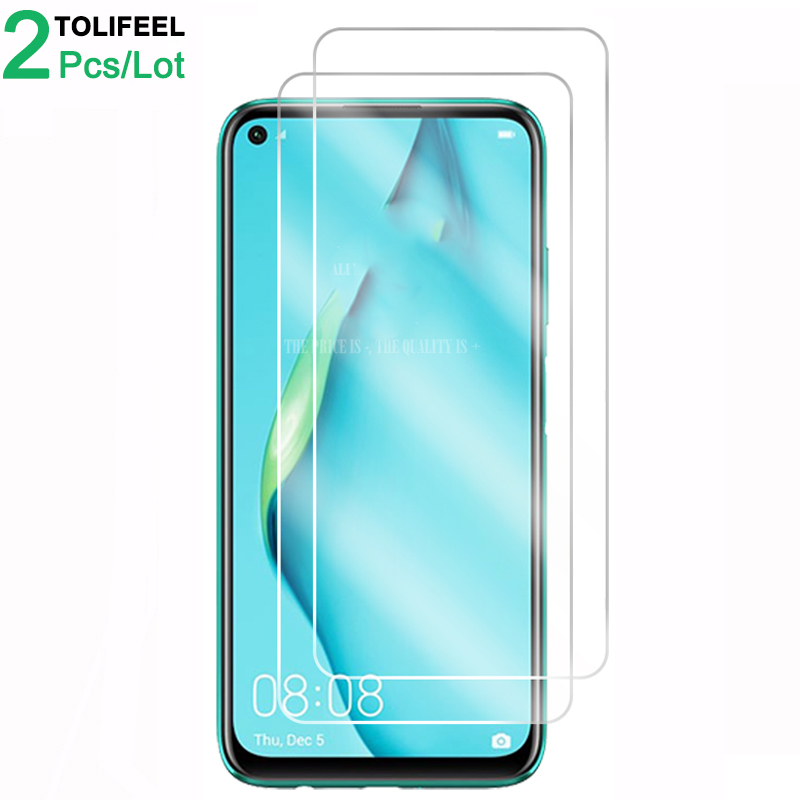 2PCS Tempered Glass For Huawei P40 Lite Screen Protector 9H 2.5D Phone Protective Glass Film For Huawei P40 Lite E Glass