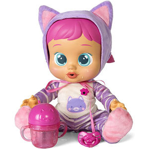 Weeping Baby Surprise Doll for Girls Vinyl Reborn Baby Simulation Babe with Milk Bottle Christmas Present Kids Puppet Music