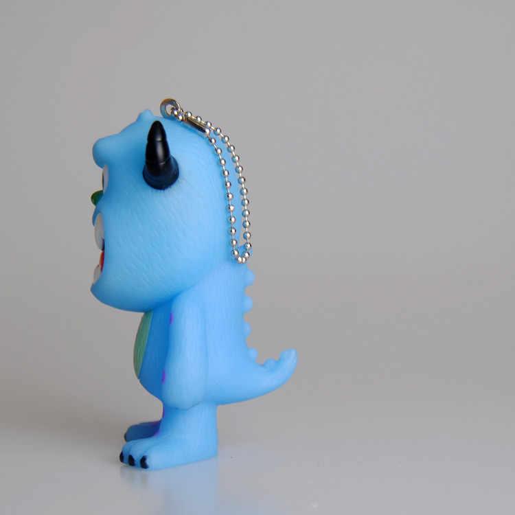 الوحش الكهربائية شركة المفاتيح الشعر الوحش العين الكبيرة مفتاح سلسلة عمل الشكل واحد العين سيارة كيرينغ حقيبة قلادة صغيرة هدية