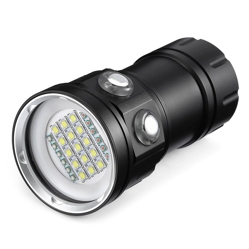 LED Diving Flashlight XHP90 LED Photography Video Light Underwater 100m Waterproof Tactical Torch Lamp