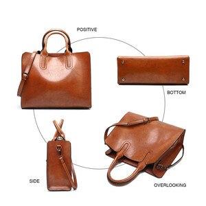 Image 4 - Torebki skórzane Valenkuci duże torebki damskie wysokiej jakości torebki kobiece Trunk Tote torba na ramię znanej marki panie Bolsos